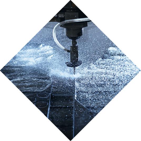 Metallbearbeitung, Wasserstrahl Schneiden